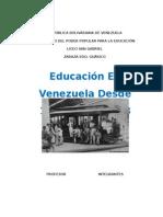 Educación en Venezuela Desde 1836 Hasta 1958