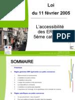Loie de 2005 Pour Les ERP