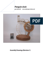 Penguin Clock Assembly Drawings