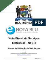 Manual de Utilização Do Web Service - NFSe Blumenau