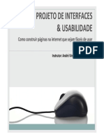 Projeto de Interfaces e Usabilidade