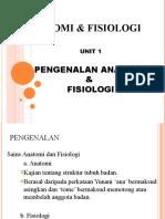 Pengenalan Anatomi dan Fisiologi Tingkatan 4
