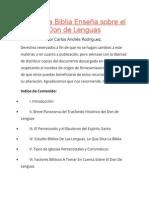 Lo Que La Biblia Enseña Sobre El Don de Lenguas