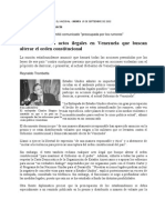 Estados Unidos, Rechaza Actos Ilegales en Venezuela EL NACIONAL