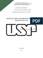 Método de Lowry para determinação de proteínas