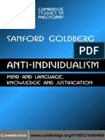 Sanford C. Goldberg- Anti-Individualism Mind and...