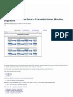 Conversão de Horas Excel... Excel Do Básico Ao VBA