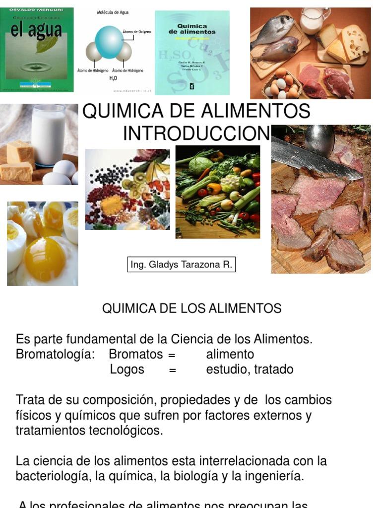 1 introducci n a la qu mica de alimentos for Quimica de los alimentos pdf
