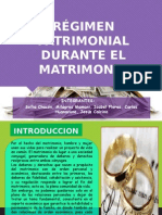 Regimen Patrimonial Durante El Matrimonio