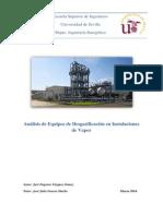 Análisis de Equipos de Desgasificación en Instalaciones de Vapor