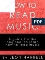 How to Read Music by Leon Harrell