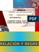 Correlación y Regresión Lineal civil UNHEVAL