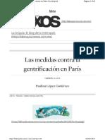Las medidas contra la gentrificación en París