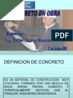 Concreto en Obra 31 de Octubre