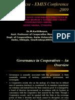 Cooperative Governance - Dr.M.Karthikeyan