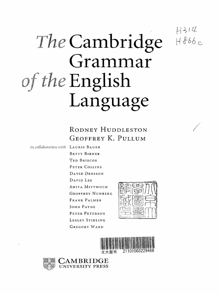 Pdf of english grammar cambridge the language