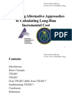[1] Comparing Alternative Approaches to Calculating Long-Run Incremental Cost