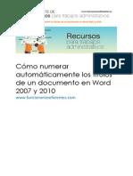 25_Cómo Numerar Automáticamente Los Títulos de Un Documento Word 2007 y 2010