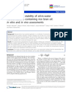 Formation and Stability of Oil-In-water