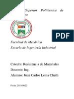 Informe 3 Resistencia de Materiales