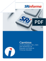 Cambio en Formularios SRI