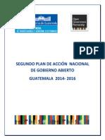 Plan de Acción de Gobierno Abierto Guatemala 2014-2016 (29-6-2014)