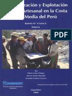Mineralización y Explotación Minera Artesanal en La Costa Sur Media Del Peru 2008