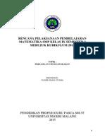 RPP Persamaan umum lingkaran