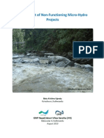 Assessment of Non-Functioning Micro-Hydro Projects