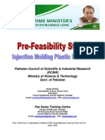 Pre-feasibility Report on Injection Moulding Machine Products (PCSIR-PSTC Karachi)