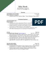 riley brook - resume