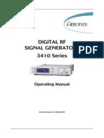 Sigge n 3410 Series Operating Manual