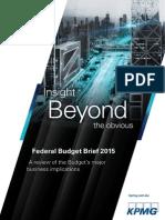 Budget 2015 Brief
