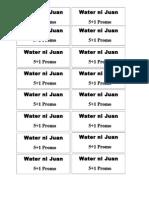 Water Ni Juan Coupon
