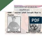Final Examination  and Rizal exile in Dapitan
