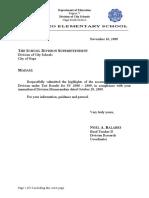 Division Annual Accomplishment Report Cy 2009