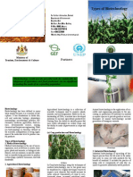 Types of Biotechnology Brochure