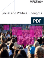 IGNOU Social and Political Thoughts (MPSE-004)