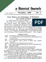 Early History and Archeology of Kuruksetra