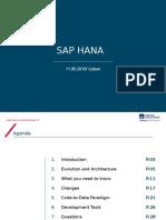 SAP HANA Apresentation