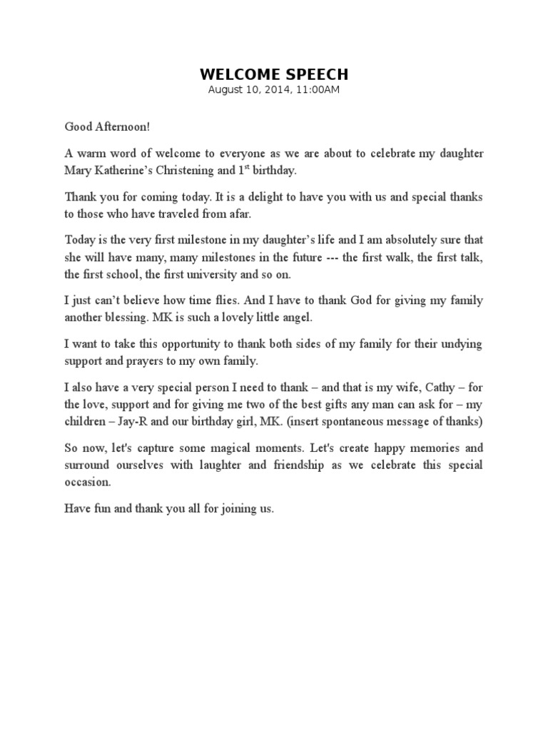 emcee script for 1st birthday party
