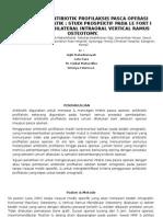 Efektifitas Antibiotik Profilaksis Pasca Operasi Bedah Ortognatik