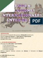 9.- RELACIONES INTERNACIONALES 1914