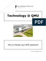 How to Change Your QMU Password Remotely