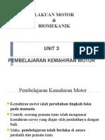 Pembelajaran Motor Tingkatan 4