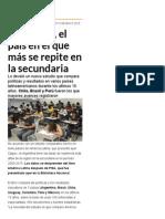 Argentina, El País en El Que Más Se Repite en La Secundaria - Infobae