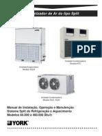Manual de Instalacao Operacao e Manutencao Split YORK Modelo 60.000 a 480.000 Btu-h