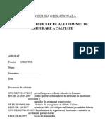 Procedura Privind Modalităţile de Lucru Ale CEAC
