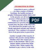 female circumcision in islam