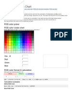 RGB Color Codes Chart